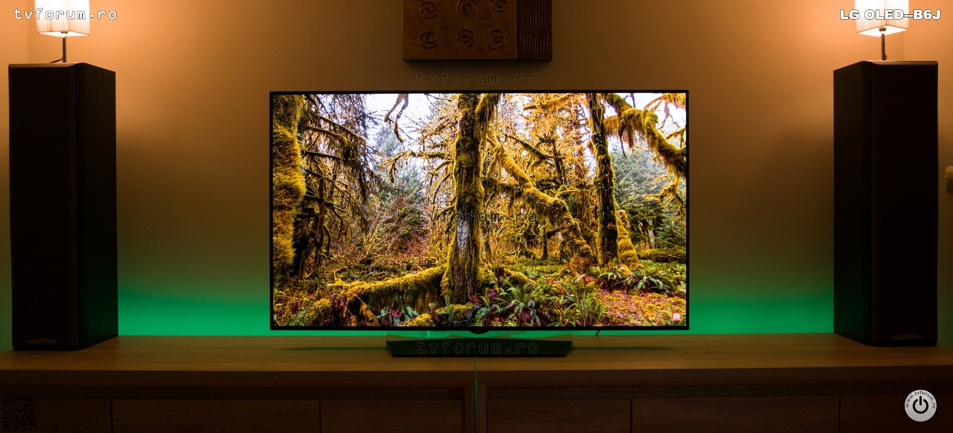LG OLED55B6J OLED65B6J Review Front Ambiental Light